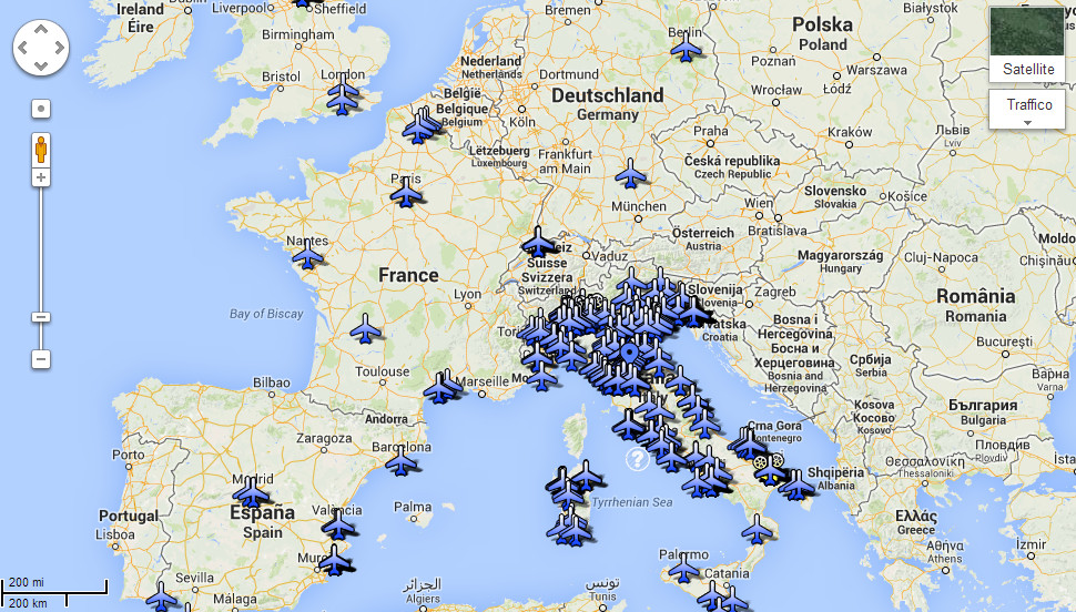 Mappa mondiale della diffusione degli italiani che credono alle scie chimiche.