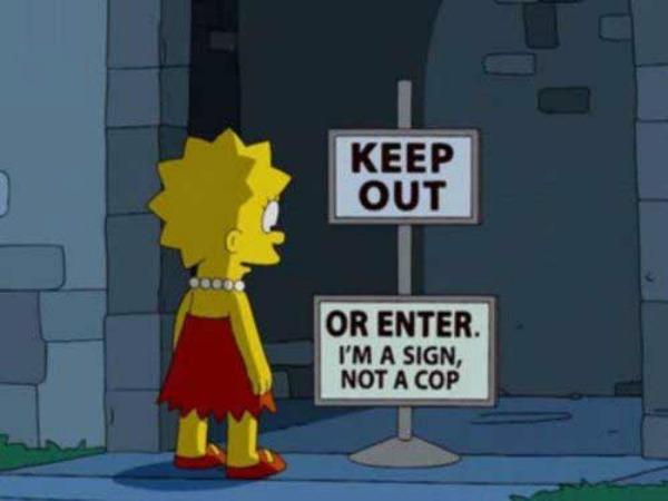 insegne dei Simpson 9